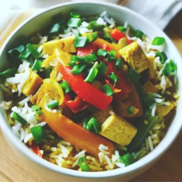 Tofu w rajskim curry