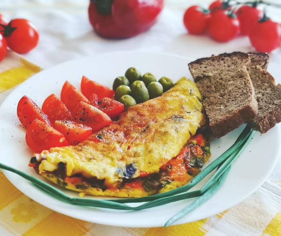 Omlet warzywny bez dodatku mąki
